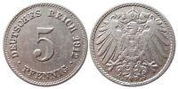 J 12   5 Pfennig Kaiserreich 1912 J in VZ  502872