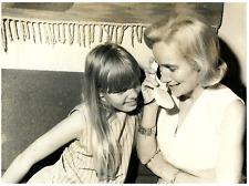 Yvonne Heyerdahl, wife of Thor Heyerdahl Vintage silver Print,and her daughter