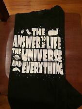Teefury Men's LARGE T-Shirt Life, The Universe and Everything Hitchiker's 42