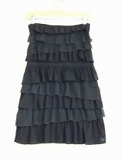 Gilly Hicks Sydney Australia - S - Navy Tiered Ruffle Strapless Tunic Knit Top