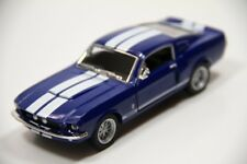 "New Kinsmart 5"" 1967 Shelby GT-500 Ford Mustang Diecast Model Toy Car 1:38 Blue"