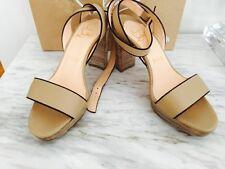 Christian Louboutin Echasse Platform Beige Leather sandal Shoe 6 / 36