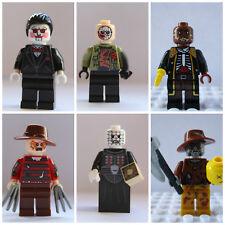 6 Piece Horror Movie Mini Figure Set Jason,Saw,Freddy,Hellraiser Use With lego