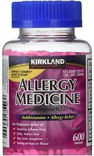 Kirkland Signature Allergy Medicine 25 Mg, 600 Minitabs |NO SALES TAX|