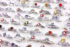 FREE 10X Resale Cubic Zirconia Stainless Steel Womes Rings Wholesale Mixed Lots
