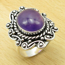 AMETHYST Rare Stone ! 925 Silver Overlay BOYS' Ring Size US 6 1/2 ONLINE STORE
