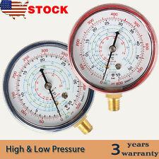 A/C Air Conditioner R410A R134A R22 Refrigerant Low&High Pressure Gauge PSI KPA
