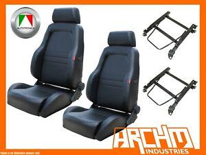 AUTOTECNICA ADVENTURER SEAT LEATHER BLACK LANDCRUISER 80 1990-1992 ADAPTOR PAIR