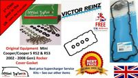 Mini R50 R53 Cooper S  Rocker Cover Gasket & Stainless Rocker Bolts set