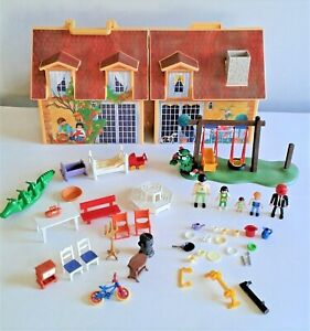 Playmobil Take Along House & Assorted Playmobil & Others Bits and Pieces Bundle