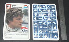 CARTE COUREUR AUTOMOBILE 1984 FORMULE 1 GRAND PRIX F1 HUUB ROTHENGATTER OSELLA