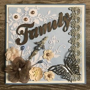 """Handmade  Card Family 6x6"""" with envelope"""