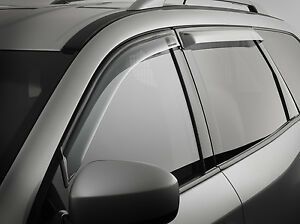 Genuine Nissan Pathfinder R52 Slimline Weathershield Set Front Rear June 2013 On