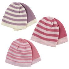 6 Pack Baby Babies Girls Beanie Hats Winter Warm Infant 0-24m Bundle Multipack