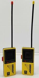 N) Vintage Pair of GE General Electric Yellow Walkie Talkies Model 3-5942B