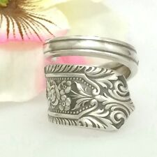 Sterling Silver June Spoon Ring MILBURN ROSE Silverware Jewelry Custom Sz 7 - 13