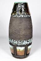 Vintage Swedish Tilgman Keramik Lava Glaze Pottery Vase c1960s