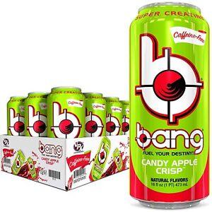 VPX Bang Energy Drink Super Creatine Candy Apple Crisp 16 oz ( Pack of 12 )