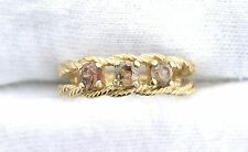 10Kt REAL Yellow Gold 3.5mm Golden Topaz Ladies Gemstone Gem Stone Ring EBS199R4