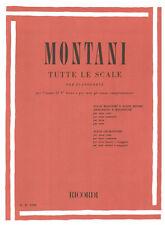 RICORDI Montani, Pietro - TUTTE LE SCALE PER PIANOFORTE
