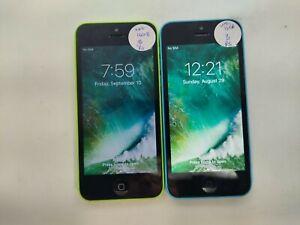 Lot of 2 Apple iPhone 5c A1532 16GB Unlocked Check IMEI Good Condition DA-607