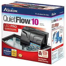 Aqueon QuietFlow 10 LED Pro Aquarium Power Filter 10-20gal