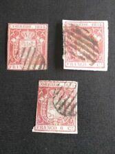 Sellos sueltos de España anteriores a 1872 de 3 sellos usado