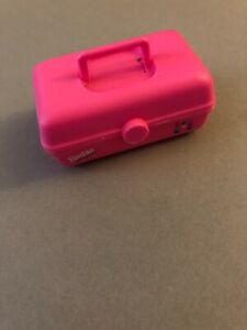Miniature Barbie sized Caboodle case in pink for your favorite doll