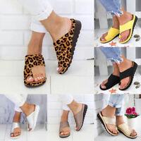 Summer Women's Slippers Slides Flat Flip Flops Flat Sandals Beach Shoes Casual