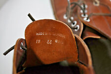 LL Bean Mens brown leather boat shoes size 10 EE