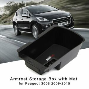 Armrest Storage Box for Peugeot 3008 2009-2015 Central Console Organizer Tray