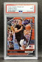 🔥2020-21 Panini Prizm DP Lamelo Ball #3 Red🔴Wave PSA 9 MINT Rookie RC SSP