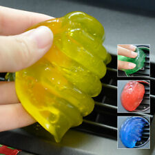 Yellow Car Air Conditioning Vent Outlet Storage Box Interior Dust Clean Glue