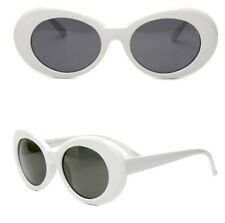 White Clout Goggles Glasses Vintage Classic Kurt Cobain Sunglass Oval Hypebeast