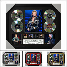 Bon Jovi 4CD  Signed Framed Memorabilia Limited Ed. 2017 - Multiple Variations