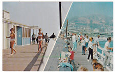 GIRL WATCHING & FISHING PIER Ventura CALIFORNIA - c1970 POSTCARD