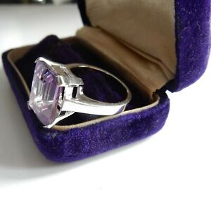 Purple Amethyst Cocktail Ring Sterling Silver Ring