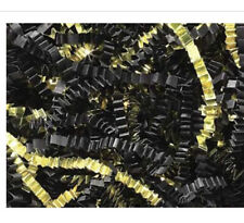 crinkle cut paper shred Black And Gold 7.5 Oz