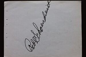 Red Schoendienst HOF St Louis Cardinals Autographed Signed 4x6 Page 17C
