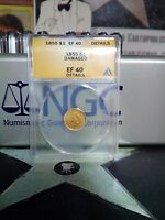 1855 Indian Princess Head Gold Dollar $1 ANACS NGC EF 40 Details