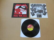 Metallica Kill 'Em All music for nations LP 1983 UK original pressing MFN7