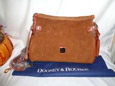Dooney & Bourke Medium Zip Crossbody Handbag Amber Suede Ss0421ar