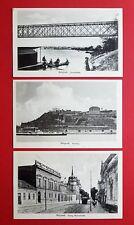 3 x AK BELGRAD in Serbien um 1920 Savebrücke, Festung, König Milanstr.  ( 35707