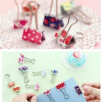 20pcs Colorful Metal Binder Clips File Paper Clip Clamps Office Supplies 19mm