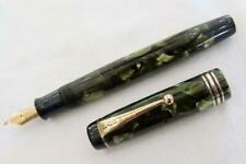 PARKER MODERNE DUOFOLD C1932 SEA GREEN PEARL FOUNTAIN PEN, FULLY RESTORED