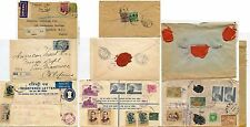 INDIA 1920s-60s SEALS+STATIONERY REGISTERED 5 COVERS