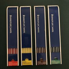 Vtg 80s Staedtler Mars Lumochrome Colored 2mm Replacement Leads 204-2, 5, 7, 10