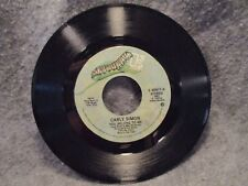"""45 RPM 7"""" Record Carly Simon In A Small Moment You Belong To Me Elektra E-45477"""