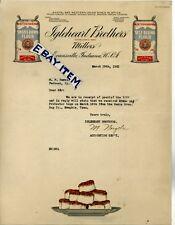 1921 M. Naegele  LETTERHEAD Evansville Indiana IGLEHEART BROTHERS Flour Millers