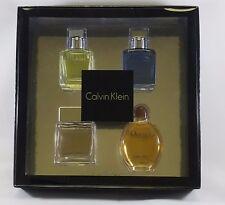 Calvin Klein Coffret 4pc Set: Each 0.5 oz/15ml EDP/EDT Mini for Men NIB